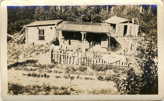 Naumanns Anwesen mit seinem ersten kleinen Garten