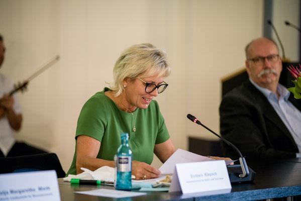 Ehrenamt Museumswesen 2020 Sachsen 28.9.2020. Staatsministerin Barbara Klepsch .  ©Michael Schmidt