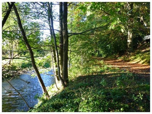 """Der """"Kügelgen-Weg"""" von Lotzdorf nach Liegau, am rechten Ufer der Großen Röder"""