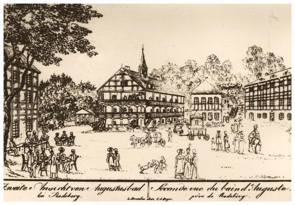 Radeberger Bad, Augustusbad, um 1810
