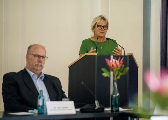 Ehrenamt Museumswesen 2020 Sachsen 28.9.2020. Ansprache Staatsministerin Barbara Klepsch. 1. ©Michael Schmidt