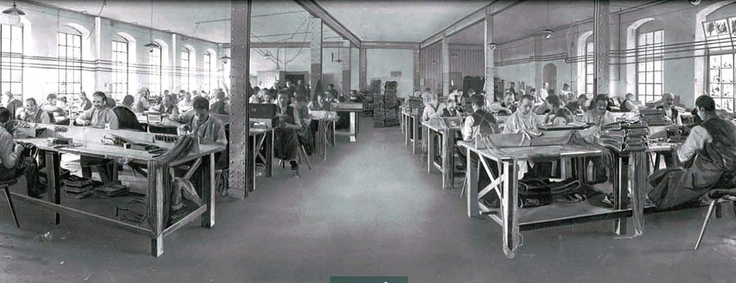 Die Sattlerei Arnoldstraße, 1915. Quelle: Firmenschrift KWD