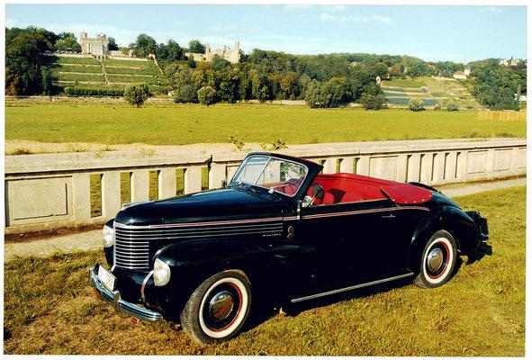 Opel Kapitän 1938, Cabrio mit offenem Verdeck. Foto: S. Rüdiger