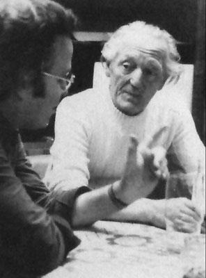 Wolfgang Fischer (li.) im Kunstgespräch mit Rosso H. Majores