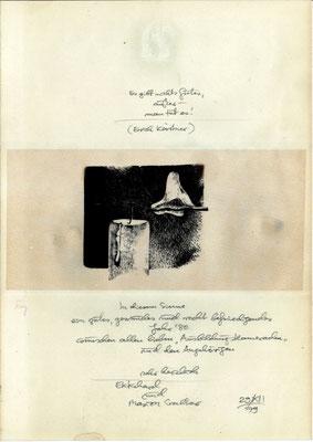 Ekkehard Walter:  Persönliche Neujahrskarte 1980