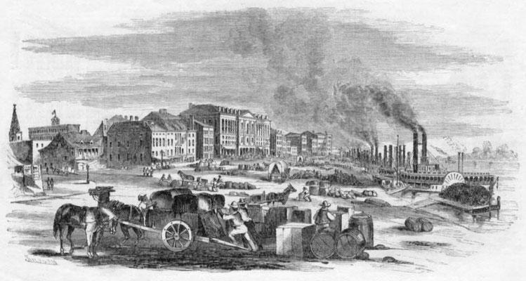 St. Louis Hafen um 1850