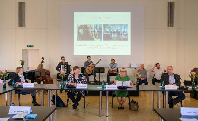 Ehrenamt Museumswesen 2020 Sachsen 28.9.2020. Grußwort von Staatsministerin Barbara Klepsch .  ©Michael Schmidt