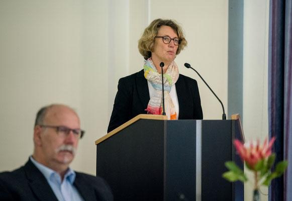Ehrenamt Museumswesen 2020 Sachsen 28.9.2020. Ansprache Dr. Sabine Wolfram, Vorsitzende im Vorstand Sächsischer Museumsverbund e.V., Direktorin Staatliches Museum für Archäologie Chemnitz. ©Michael Schmidt