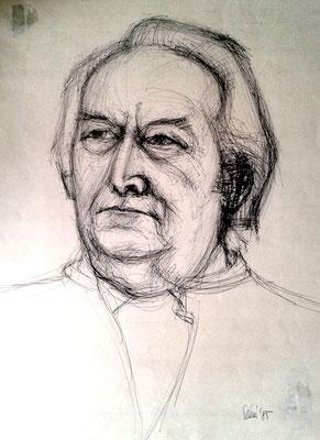 Renate Schönfuß:  Porträt Herbert Hommola 1985