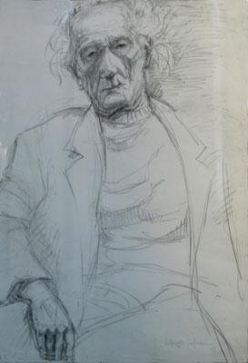 Elfriede Hofmann: Rosso Majores, Bleistift, 1988, 59x42 cm