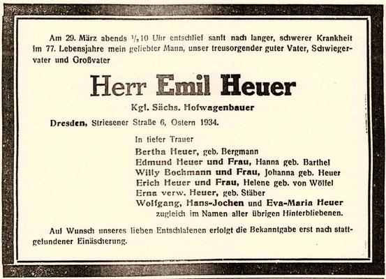 Radeberger Zeitung vom 4. April 1934
