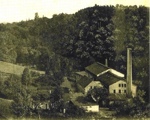 Niedermühle, Papierfabrik Seifersdorf, um 1900