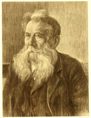 Karl Stanka: Porträt 1, Rötel. Vor 1914. Museum Schloss Klippenstein Radeberg