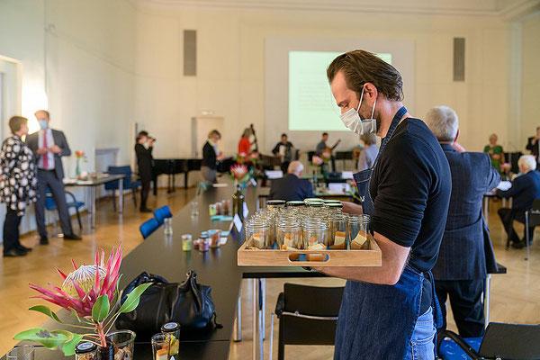 Ehrenamt Museumswesen 2020 Sachsen 28.9.2020.  Catering unter Corona-Bedingungen. ©Michael Schmidt
