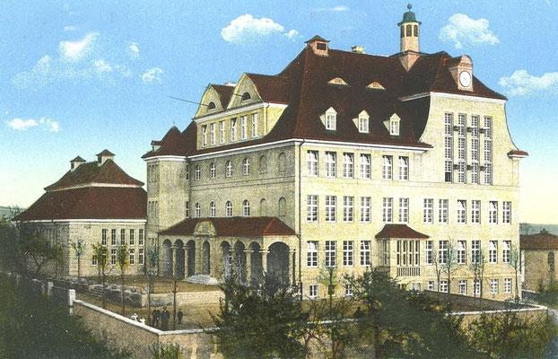 Realprogymnasium Radeberg, 1912 erbaut, später Gymnasium. Heute Humboldt-Gymnasium Radeberg