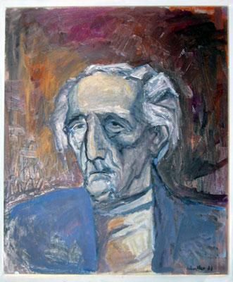 Rolf Werstler: Rosso Majores Porträt, Öl, 1989
