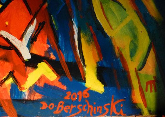 Dieter O. Berschinski, Mabel-Fete Seifersdorf 2, 2016, Signatur