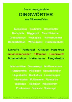 Zusammengesetzte Dingwörter aus Mittelwestfalen, Poster A3