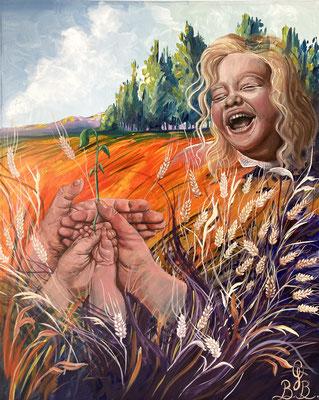 Héritage, peinture à l'huile sur toile - 61 x 76 cm - Heritage, oil painting on canvas, 24 x 30 in