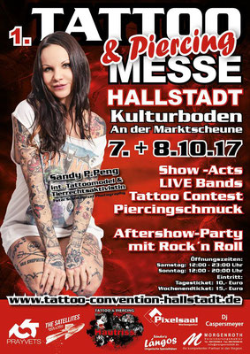 Plakat Tattoo Convention Hallstadt  | Sandy P. Peng