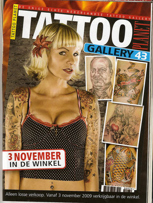 Cover Tattoo Magazin Holland  | Sandy P. Peng