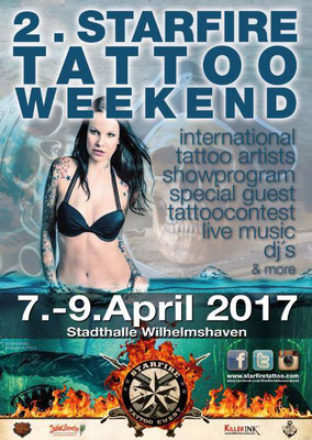 Plakat Tattoo Convention Wilhelmshafen, Sandy P. Peng