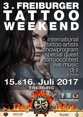 Plakat Tattoo Convention Freiburg  | Sandy P.Peng