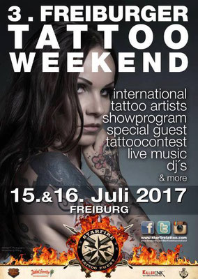 Plakat Tattoo Convention Freiburg  | Sandy P.Peng