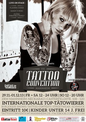 Eventplakat Tattoo Convention | Sandy P.Peng