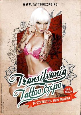 Eventplakat Tattoo Convention Transilvanien |Sandy P.Peng