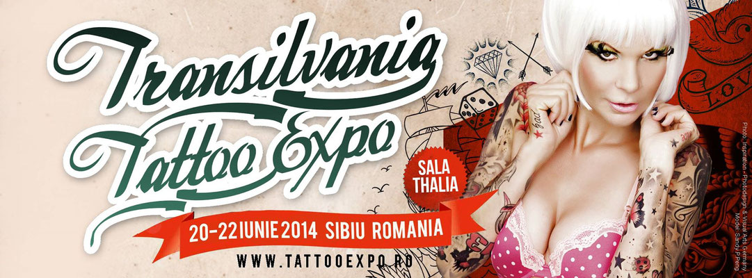 Eventplakat Tattoo Convention Transilvanien | Sandy P. Peng