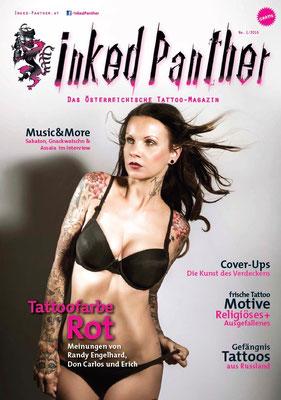 Cover Tattoo Magazin Österreich  Sandy P.Peng