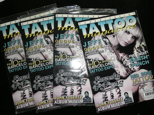 Cover Skandinavien Tattoo Magazine  Skandinavien    Sandy P.Peng