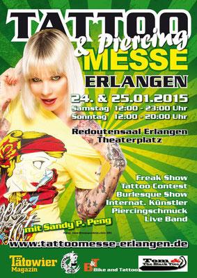Eventplakat Tattoo Convention|Sandy P.Peng