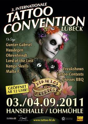Eventplakat Tattoo Convention  Sandy P.Peng