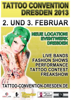 Eventplakat Tattoo Convention |Sandy P. Peng