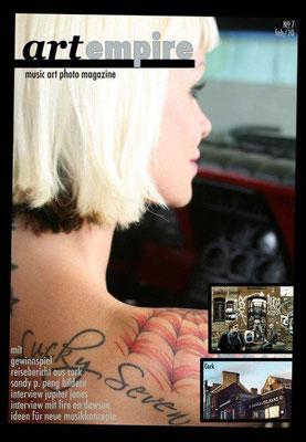 "Cover ""art empire"" musik art photomagazine |Deutschland |Sandy P. Peng"