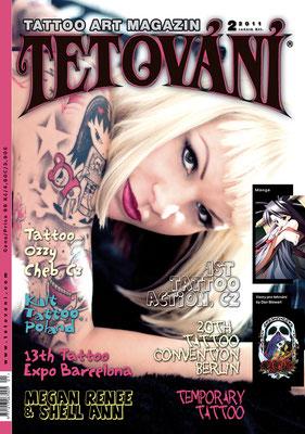 Cover Tattoo Magazin Tschechei    Sandy P.Peng
