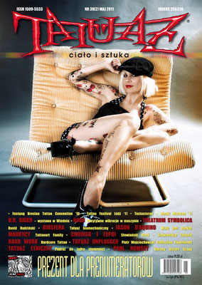 Cover Tattoo Magazin Polen    Sandy P.Peng
