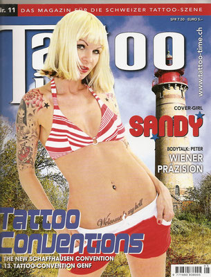 Cover Tattoo Magazin Schweiz  | Sandy P. Peng