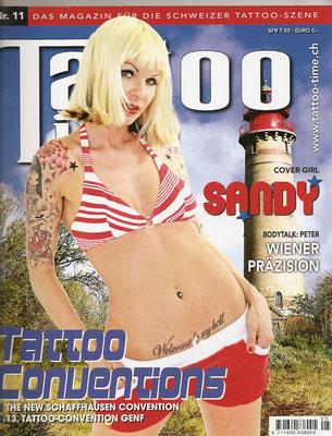 Cover Tattoo Magazin Schweiz  | Sandy P. Peng
