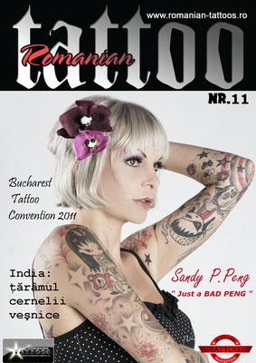 Cover Tattoo Magazin Rumänien    Sandy P.Peng