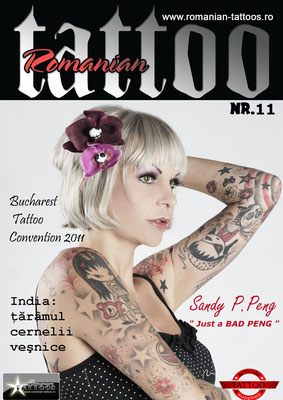 Cover Tattoo Magazin Rumänien  | Sandy P. Peng