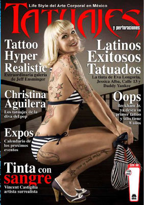Cover Tattoo Magazin Mexiko  | Sandy P.Peng