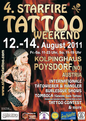 Eventplakat Tattoo Convention | Sandy P. Peng