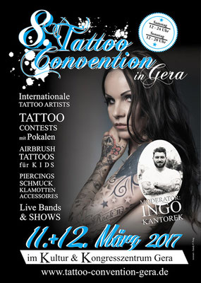 Plakat Tattoo Convention Gera, Sandy P. Peng