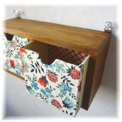 Wall drawers with the LIBERTY fabric (the U.K.)
