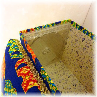 Inside of Fabric Box-Elephants in Thailand