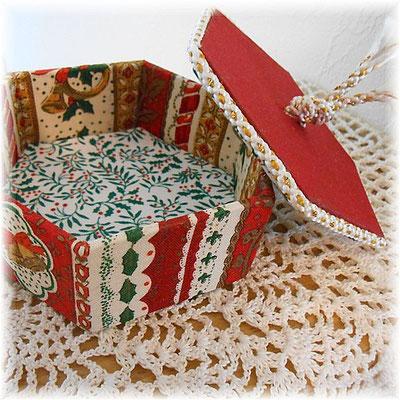 クリスマスの六角形カルトナージュ(小)クリスマスベル、赤バージョン_#244-02
