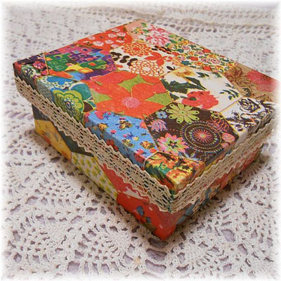 Cartonnage box with Spanish paper_04
